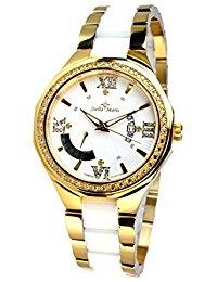 Stella Maris Damen-Armbanduhr Analog Quarz Premium Keramik Diamanten - STM15Y7