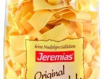 Jeremias Bandnudeln 20 mm gewalzt, Gourmet Frischei-Nudeln, 2er Pack (2 x 500 g Beutel)