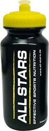 All Stars Trinkflasche, schwarz-gelb, 500 ml