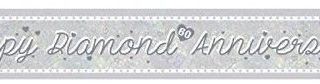 Amscan 9900045 2,7 m Diamant Jahrestag Holografische Folie Banner