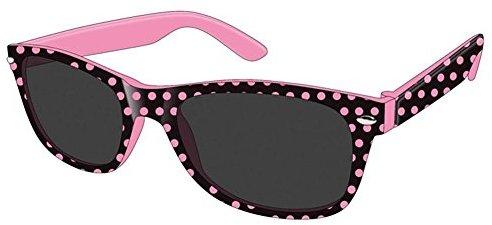 Montana Eyewear Sunoptic 963 Kinder Sonnenbrille in schwarz plus rosa gepunktet
