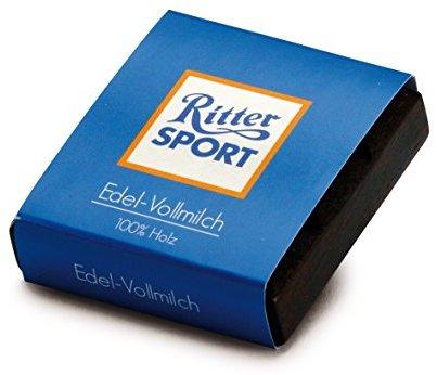 Erzi 4,5 x 4,5 x 1,3 cm Pretend Play Holz Lebensmittels Shop Ware Ritter Sport Mini Milch Schokolade