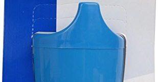 Dr. Junghans Medical 29079 Einnehmebecher mit Griff, blau, Deckel 12 mm