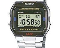 Casio Collection - Unisex-Armbanduhr mit Digital-Display und Edelstahlarmband - A163WA-1QES