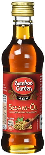 Bamboo Garden Sesam-Oel aus geroesteter Sesamsaat, 2er Pack (2 x 100 ml)