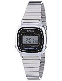 Casio Collection - Damen-Armbanduhr mit Digital-Display und Edelstahlarmband - LA670WEA-1EF