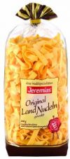 Jeremias Bandnudeln 8 mm gewalzt, Gourmet Frischei-Nudeln, 2er Pack (2 x 500 g Beutel)