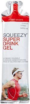 Squeezy Sports Nutrition Super Drink Gel 60-ml-Beutel, Geschmack Zitrone-Koffein, 3er Pack (1 x 0.18 kg)