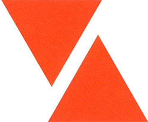 Kleiber Kleine reflektierende Dreiecks-Signalsticker, orangefarben