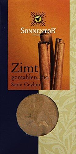 Sonnentor Zimt gemahlen (Sorte Ceylon), 1er Pack (1 x 40 g) - Bio