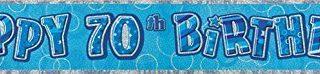Unique Party 91977 9 ft Folie Set Blau Happy 70th Geburtstag Banner