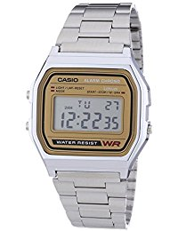 Casio Collection - Unisex-Armbanduhr mit Digital-Display und Edelstahlarmband - A158WEA-9EF