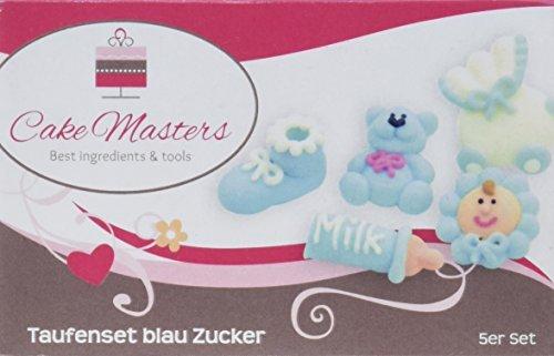 Cake Masters Taufenset Zucker blau, 1er Pack (1 x 10 g)