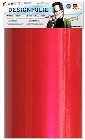 EASYPLOT 50-027-B - Designfolie, circa A4, perlmutt rot