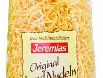 Jeremias Bandnudeln 2 mm gewalzt, Gourmet Frischei-Nudeln, 2er Pack (2 x 500 g Beutel)