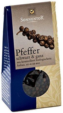 Sonnentor Pfeffer schwarz ganz, 1er Pack (1 x 35 g) - Bio