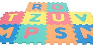 MAMATOY MMA14000  -  Mamababy Puzzle Lernmatte Abc, Kinder Spielmatte, 10 Stuck, 32 x 32 cm