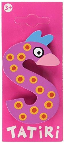"""""""crazy bird"""" Holzbuchstabe """"S""""  ca. 7 cm"""
