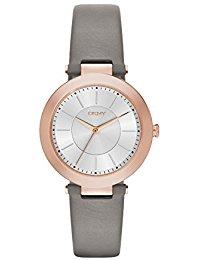 DKNY Damen-Armbanduhr Analog Quarz Leder NY2296
