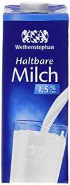 Weihenstephan Halt- bare Milch 1.5%, 12er Pack (12 x 1 l)