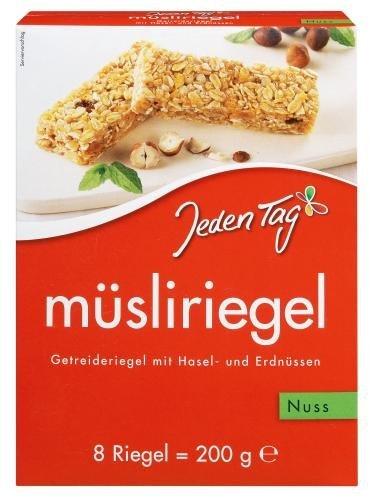 Jeden Tag Msliriegel Nuss, 5er Pack (5 x 200 g)