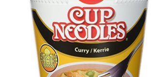 Nissin Cup Noodles Curry, 4er Pack (4 x 67 g Becher)