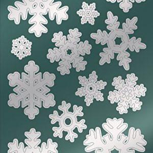 Avery Zweckform 52813 Weihnachtssticker Schneeflocken 28 Aufkleber