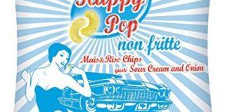 HAPPY POP Mais und Reis Chips Sour Cream und Onion Bio, 1er Pack (1 x 45 g)