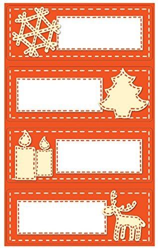 Avery Zweckform 52770 Weihnachtssticker, Beschriftung Schilder, 8 Aufkleber