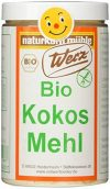 Werz Kokosmehl glutenfrei, 1er Pack (1 x 200 g Dose) - Bio