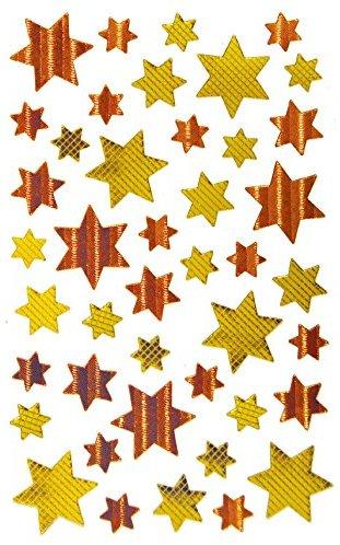 Avery Zweckform 52774 Weihnachtssticker Sterne (Effektfolie) 43 Aufkleber