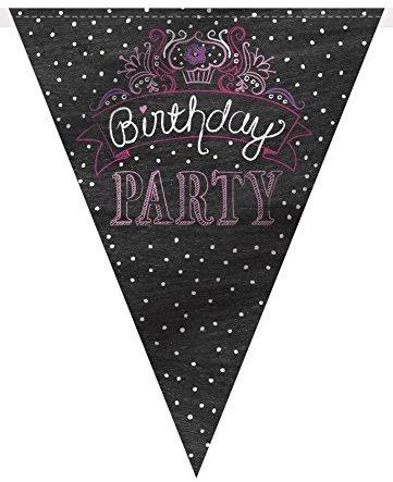 """12 ft Wimpelkette """"Birthday Girl Flaggen"""