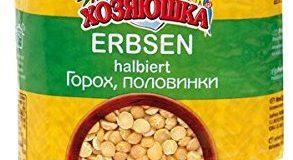 Chosjauschka Erbsen, halbiert, 4er Pack (4 x 900 g)