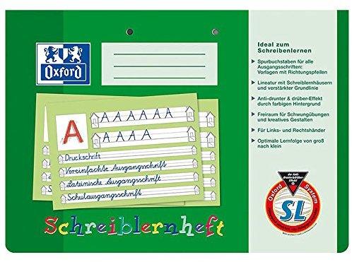 Oxford 311401600-100050089 Schreiblernhefte DIN A4 quer SL, 90 g-qm