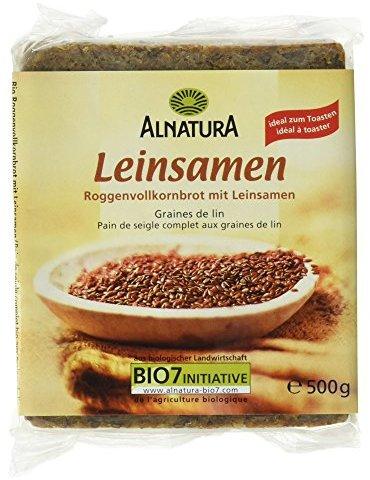 Alnatura Bio Leinsamenbrot, 4er Pack (4 x 500 g)