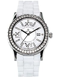 Stella Maris Damen-Armbanduhr Analog Quarz Premium Keramik Diamanten - STM15E6