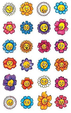 Avery Zweckform 53371 Deko Sticker Blumengesichter 72 Aufkleber