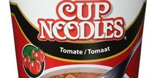 Nissin Cup Noodles Tomate, 4er Pack (4 x 63 g Becher)