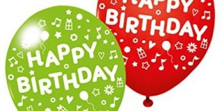 """Susy Card 40012032 - Luftballons """"Happy Birthday"""", 3er Packung"""