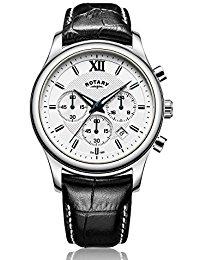 Rotary GS00347-06 Herren-Armbanduhr Chronograph Quarz Leder