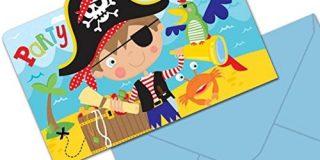 Amscan 491622 Little Pirat Einladung Postkarten