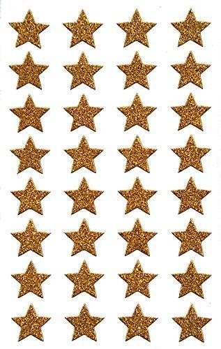Avery Zweckform 52274 Weihnachtssticker Sterne (Glitzerfolie) 32 Aufkleber