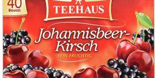 Teehaus Johannisbeer-Kirsch (Teebeutel), 3er Pack (3 x 90 g)