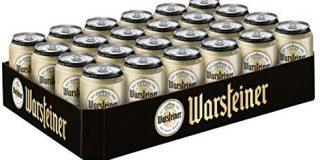 Warsteiner Premium Pilsener 24 x 0,33 Liter Dosenbier mild-hopfig - Internationales Bier nach deutschem Reinheitsgebot - Palette