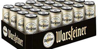Warsteiner Premium Pilsener 24 x 0,5 Liter Dosenbier - Internationales Bier nach deutschem Reinheitsgebot - Palette Bier auch im