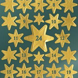 Avery Zweckform 52809 Weihnachtssticker Sterne mit Zahlen 66 Aufkleber