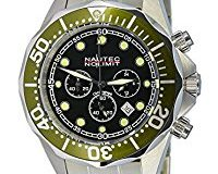 Nautec No Limit Herren-Armbanduhr XL Deep Sea Bravo Chronograph Quarz Edelstahl DS-B QZ2-STSTGRBK