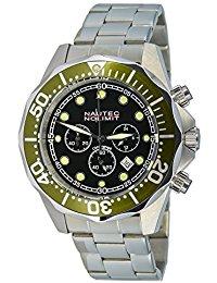Nautec No Limit Herren-Armbanduhr XL Deep Sea Bravo Chronograph Quarz Edelstahl DS-B QZ2-STSTGRBK