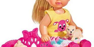 Simba 105733041 - Evi Love Puppe mit Welpen