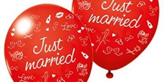 "Susy Card 40012179 - Luftballons ""Just married"", 3er Packung"